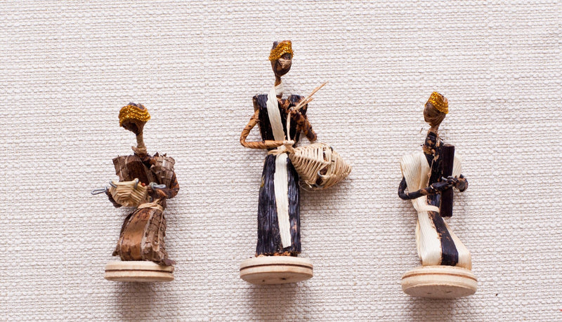 Banana Leaf Nativity Set - Kenyan materials and design for a fair trade boutique