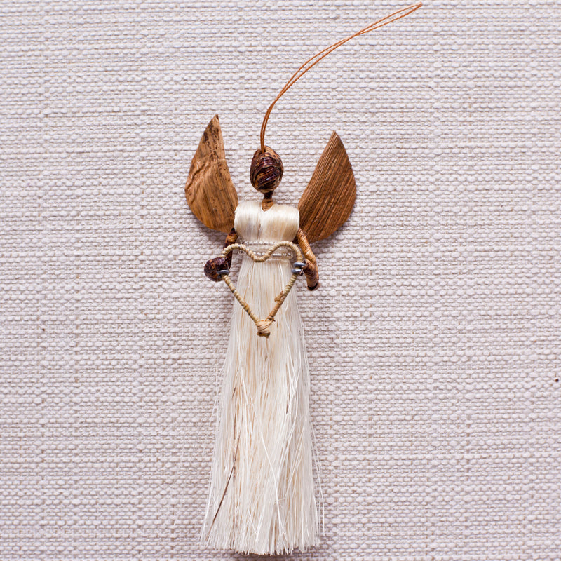 Sisal Angel Ornaments Set - Kenyan materials and design for a fair trade boutique