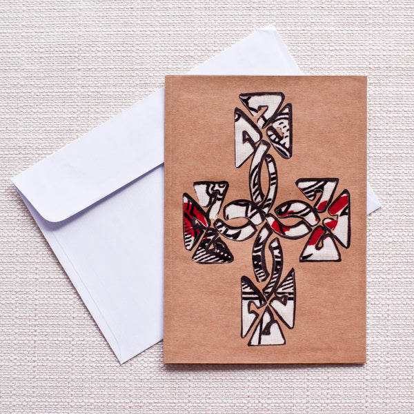 Ethiopian Cross Card - Kenyan materials and design for a fair trade boutique