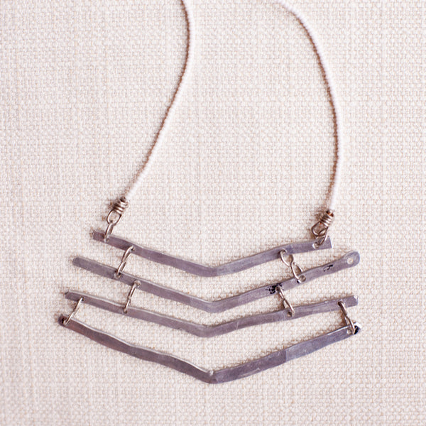 Aluminum Chevron Necklace - Kenyan materials and design for a fair trade boutique