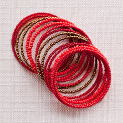 Beaded Coil Bracelet - Kenyan materials and design for a fair trade boutique