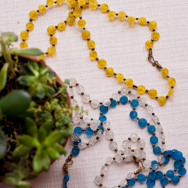 Glass Lace Necklace - Kenyan materials and design for a fair trade boutique