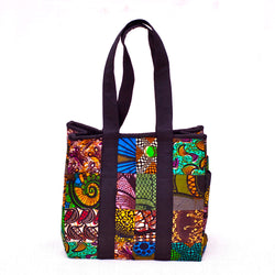 Mini Patch Tote - Kenyan materials and design for a fair trade boutique