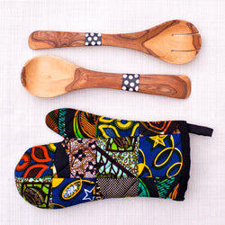 Original Patch Oven Glove & Spoon Set - Kenyan materials and design for a fair trade boutique