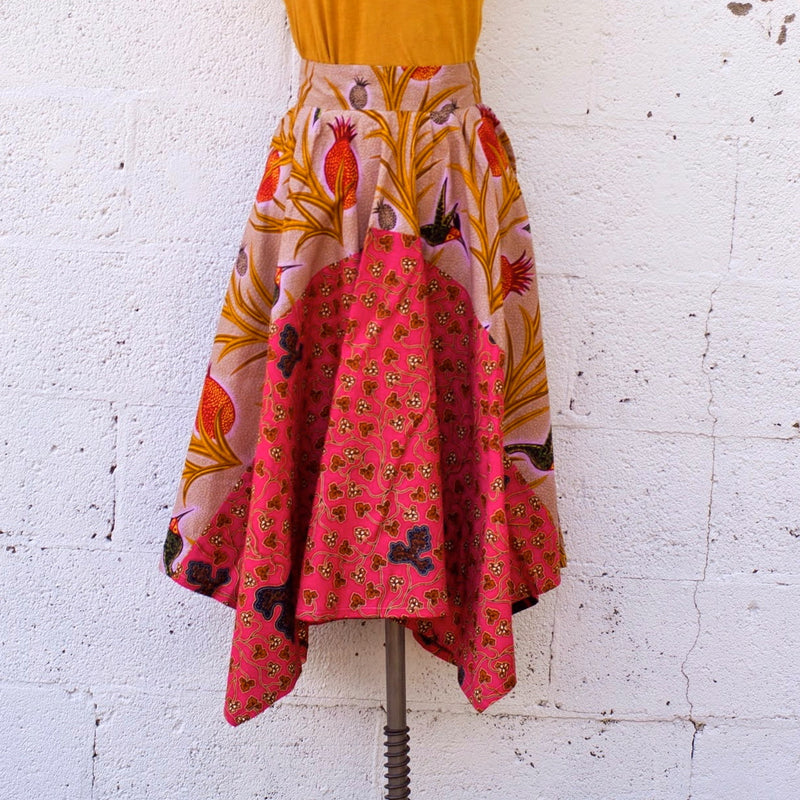 The Blush Full Skirt - Kenyan materials and design for a fair trade boutique