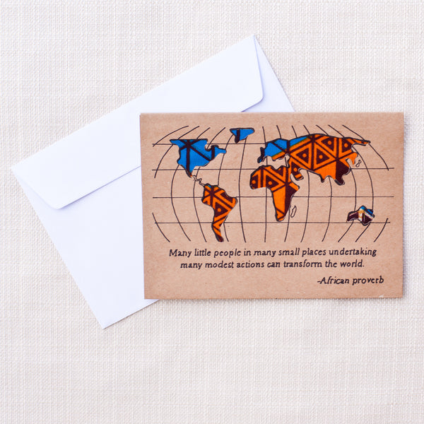 World Card - Kenyan materials and design for a fair trade boutique