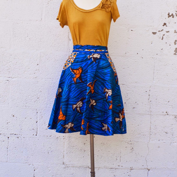 The Dove Circle Skirt - Kenyan materials and design for a fair trade boutique