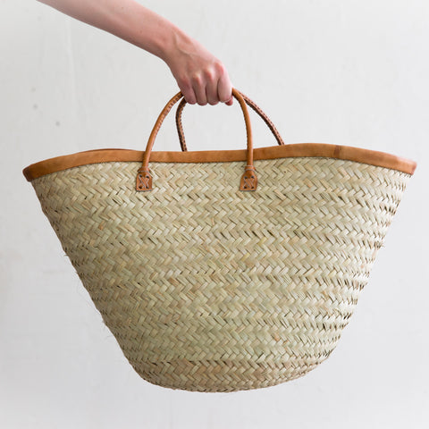 Leather Rim Basket
