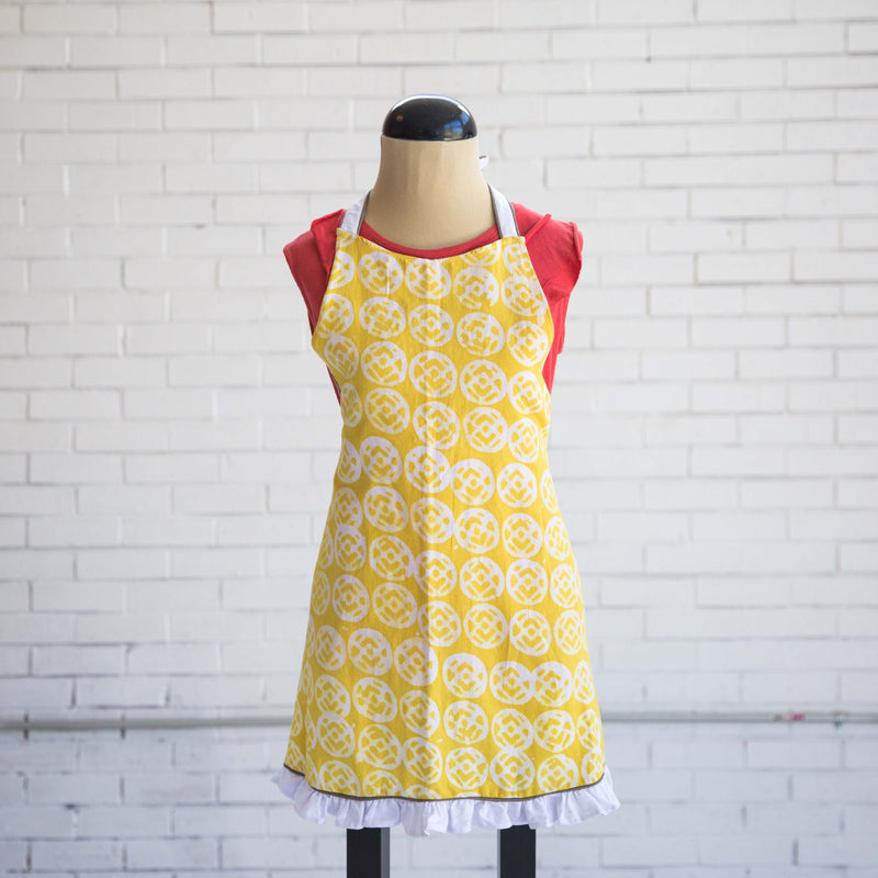 Batik Full Apron | Yellow Finch - Kenyan materials and design for a fair trade boutique
