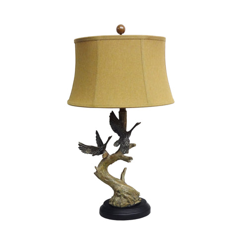 1-light Double Goose Table Lamp