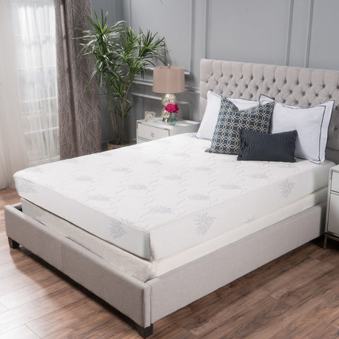 "11"" Aloe Gel Memory Foam Smooth Top Mattress by Christopher Knight Home"