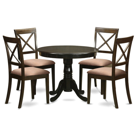 5-Piece Small Kitchen Table and 4 Chairs For Dining Room