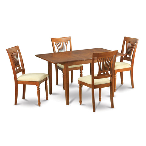 5-piece Small Dining Table and 4 Kitchen Chairs