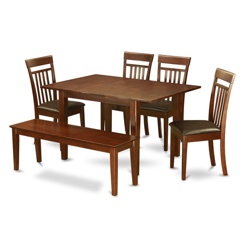 6-piece Dinette Kitchen Table and 4 Dining Chairs and Dining Bench