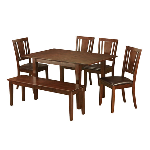 6-piece Kitchen Nook Dining Set-Breakfast Nook and 4 Dining Chairs and Dining Bench