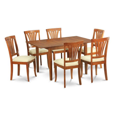 7-piece Dinette Set for Small Spaces-Small Kitchen Table and 6 Kitchen Chairs
