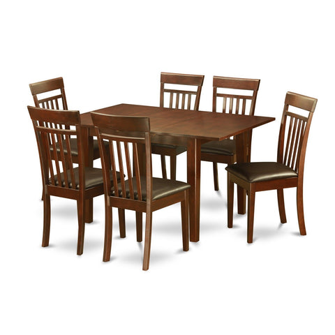 7-piece Kitchen Nook Small Table and 6 Dining Room Chairs