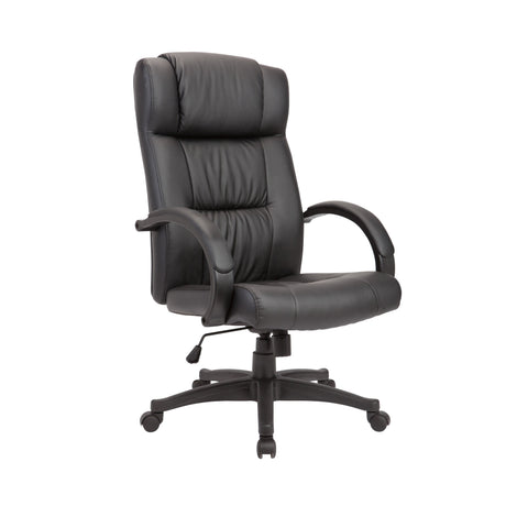 AC Pacific Powder-coated Black Adjustable Swivel Office Chair