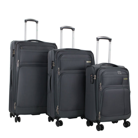 AGT Hamilton 3-piece Expandable Laptop and Tablet Spinner Luggage Set