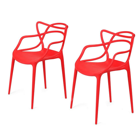 Adeco Modern Contemporary Dining Room Chairs (Set of two)
