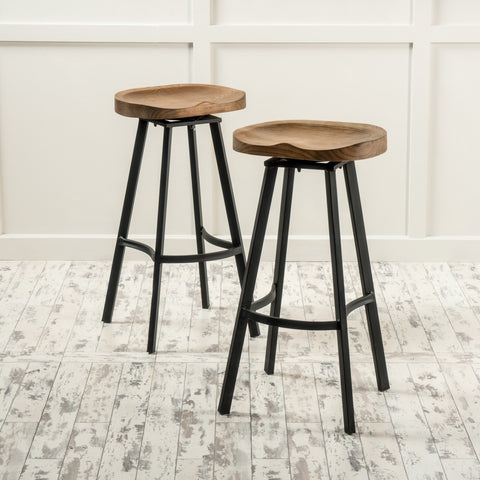 Albia 32-inch Swivel Barstool (Set of 2) by Christopher Knight Home - N/A