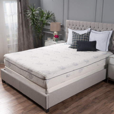 "Aloe 11"" Aloe Gel Memory Foam Smooth Top Mattress by Christopher Knight Home"