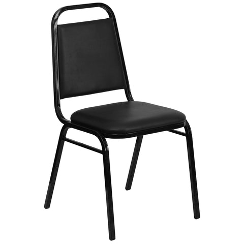 Alpine Black Upholstered Stack Dining Chairs