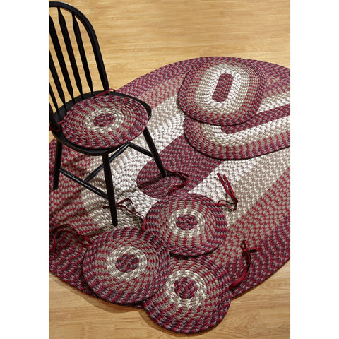 Alpine Burgundy Indoor/ Outdoor Rug/ Chair Pad 7-piece Set by Better Trends - 50' x 80'