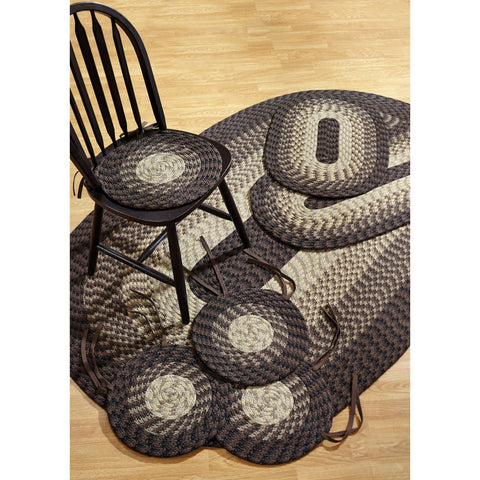 Alpine Chocolate 7-piece Braided Rug Set by Better Trends - 50' x 80'