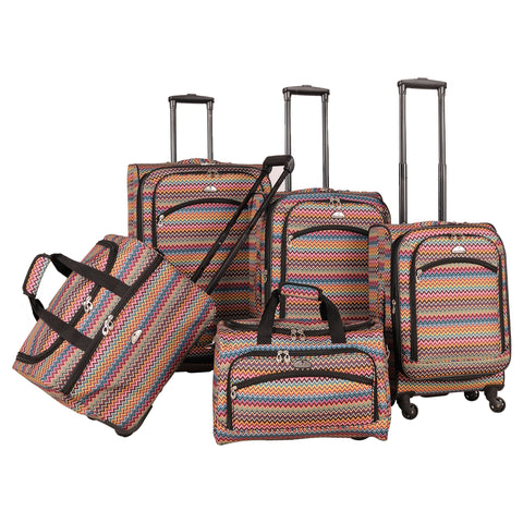 American Flyer Gold Coast 5-piece Spinner Luggage Set - 28 inches high x 18 inches wide x 11 inches deep