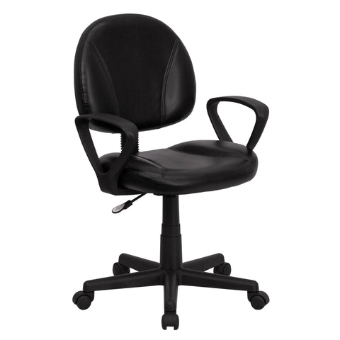 Arcton Black Leather Ergonomic Swivel Adjustable Office Chair
