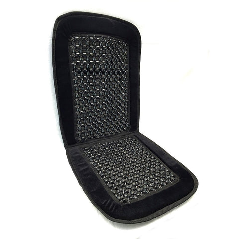 Bamboo Wooden Beaded Seat Cover Comfort Cushion-Office Truck 1pk Black