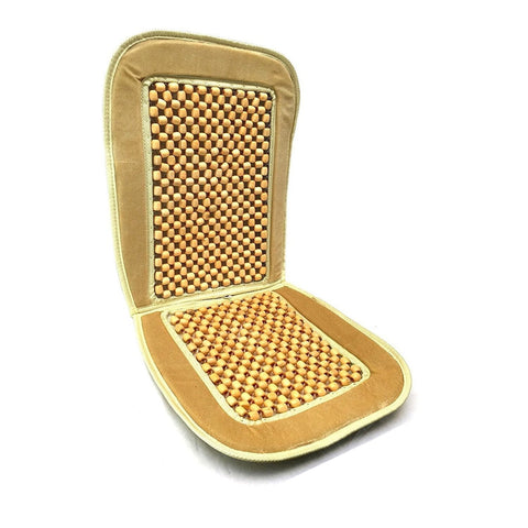 Bamboo Wooden Beaded Seat Cover Comfort Cushion -Office,Truck Gold 1pk