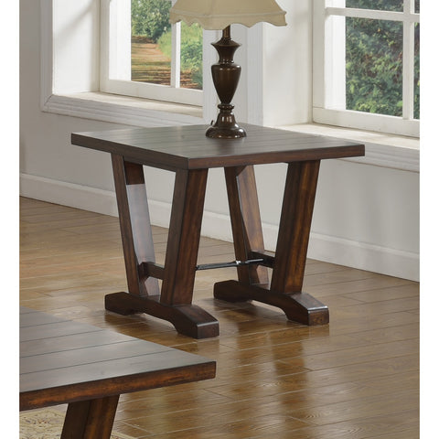 Best Master Furniture Hazelnut Brown Wood and Oak End Table