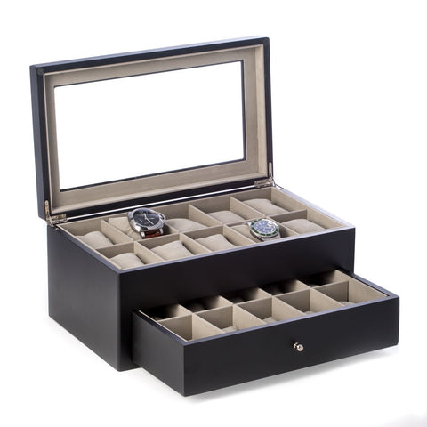 Bey Berk 'Vincent' Solid Wood 20 Watch Box