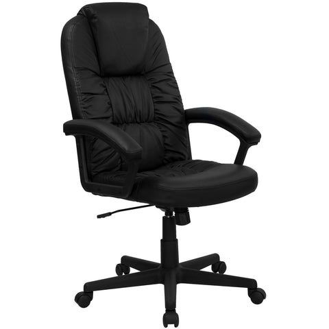 Black High Back Leather Executive Swivel Office Chair