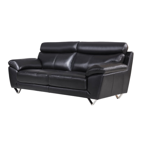 Black Italian Leather Sofa