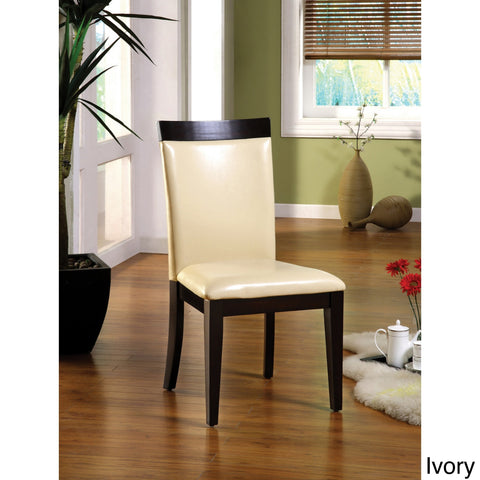 Furniture of America Laus Contemporary Ivory Dining Chairs Set of 2