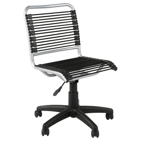 Bungie Low Back Black/ Aluminum Office Chair