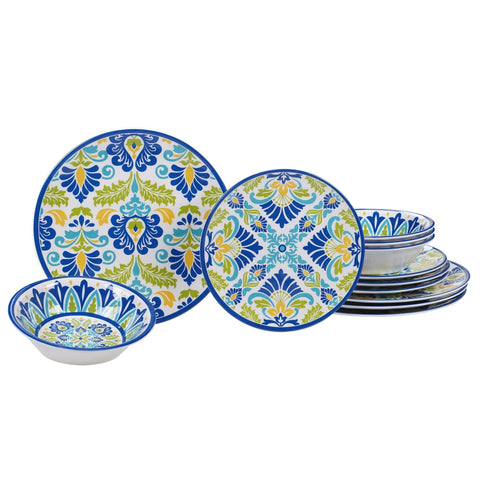 Certified International Martinique 12-piece Melamine Dinnerware Set