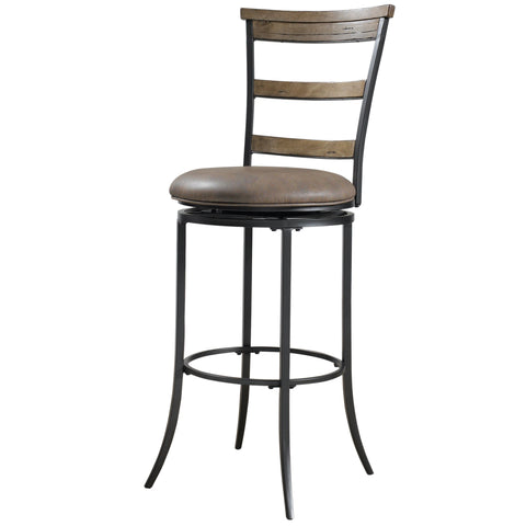 'Charleston' Desert Tan Finish Ladderback Stool