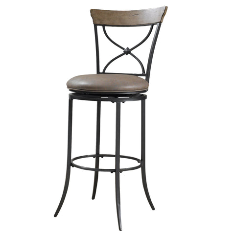 'Charleston' Desert Tan and Dark Grey X-back Stool
