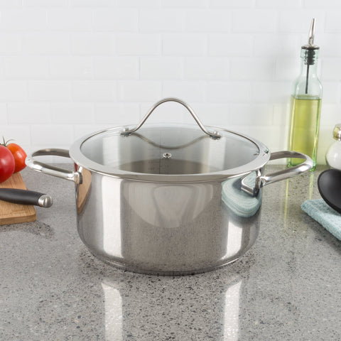 Classic Cuisine 6 Quart Stainless Steel Stock Pot