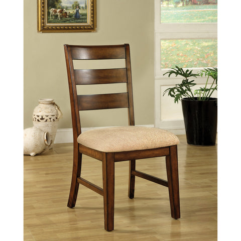 Furniture of America Arey Contemporary Oak Dining Chairs Set of 2