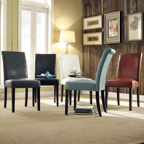 Dorian Faux Leather Upholstered Dining Chair (Set of 2) by iNSPIRE Q Bold