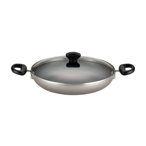 Farberware Dishwasher Safe Nonstick Aluminum 11 1/4-inch Champagne Covered Everything Pan