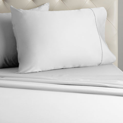 Veratex 800Thread Sateen Solid Pillowcases (Set of 2)