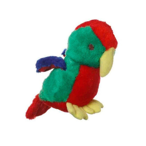 Multipet Look Who's Talking Parrot Plush Dog Toy