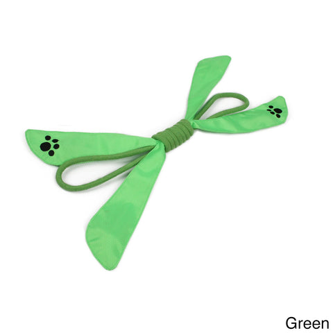 Pet Life 'Extreme Bow' Nylon/ Jute Squeak Dog Toy