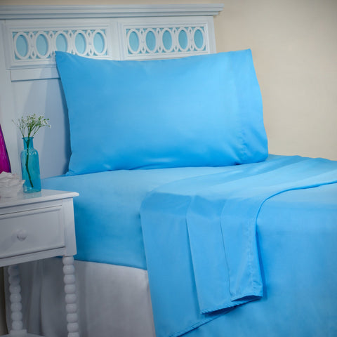 Winsor Home Series 1200 Thread Count Sheet Set Twin XL - Light Blue